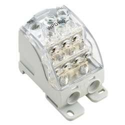 Weidmuller 1562090000 WPD 109 1X185/2X35+3X25+4X16 GY Исполнение: W-серия, Распределительный блок, Расчетное сечение: Винтовое соединение, TS 35