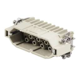 Weidmuller 1650810000 HDC HD 25 MC Исполнение: HDC - вставка, Штифт, 250 V, 10 A, Количество полюсов: 25, Обжимное соединение, Типоразмер: 5