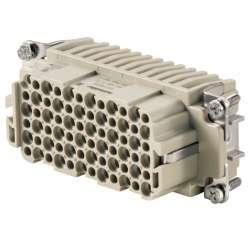 Weidmuller 1651200000 HDC HDD 72 FC Исполнение: HDC - вставка, Гнездо, 250 V, 10 A, Количество полюсов: 72, Обжимное соединение, Типоразмер: 6
