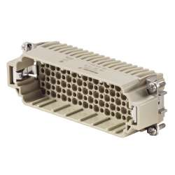 Weidmuller 1651210000 HDC HDD 108 MC Исполнение: HDC - вставка, Штифт, 250 V, 10 A, Количество полюсов: 108, Обжимное соединение, Типоразмер: 8