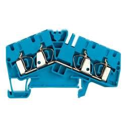 Weidmuller 1806990000 ZDU 4-2/4AN BL Исполнение: Проходная клемма, Пружинное соединение, 4 мм.кв, 800 V, 32 A, синий