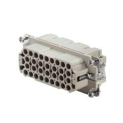 Weidmuller 1826800000 HDC HEE 32 FC Исполнение: HDC - вставка, Гнездо, 500 V, 16 A, Количество полюсов: 32, Обжимное соединение, Типоразмер: 6