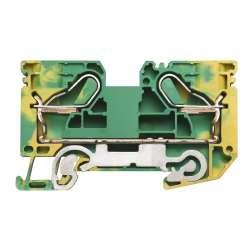 Weidmuller 1896210000 PPE 16 Исполнение: Клеммы PE, PUSH IN, 16 мм.кв, 1920 A (16 мм.кв), зеленый/желтый