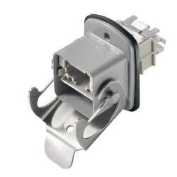 Weidmuller 1963460000 IE-BS-V05M-RJ45-FJ-A Исполнение: Разъем RJ45, IP67, Variant 5, инструмент не требуется, EIA/TIA 586 A, Cat.6A / Class EA (ISO/IEC 11801 2010)