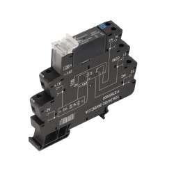 Weidmuller 1990960000 TOS 24VDC 24VDC5A Исполнение: TERMSERIES, твердотельные реле, 1 Нормально разомкнутый контакт (MOS-FET), Номинальное напряжение: 24 В (DC) ±20 % , Номинальное напряжение переключения: 3...33 В DC, Ток: 5 A, Винтовое соединение