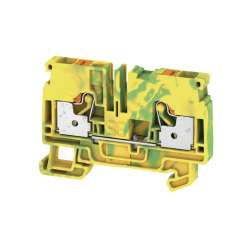 Weidmuller 1991810000 A2C 6 PE Исполнение: Клеммы PE, PUSH IN, 6 мм.кв, зеленый/желтый
