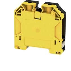 Weidmuller 2000080000 WDU 50N GE/SW Исполнение: Проходная клемма, Винтовое соединение, 50 мм.кв, 1000 V, 150 A, желтый, черный