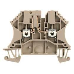 Weidmuller 8731670000 WTR 2.5/O.TNHE STB2.3 Исполнение: Измерительная клемма с размыкателем, Винтовое соединение, 2.5 мм.кв, 500 V, 24 A Темно-бежевый